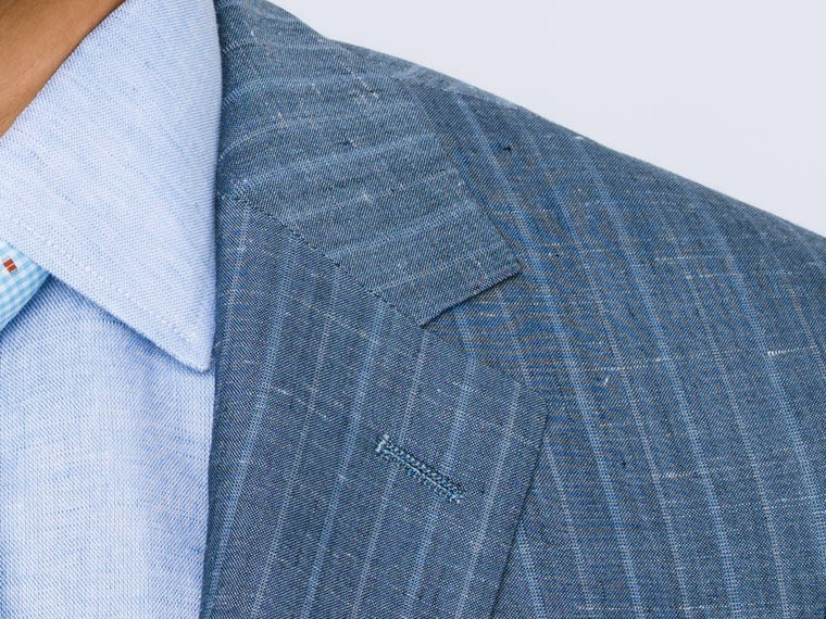 Washed Indigo Pinstripe Suit 5