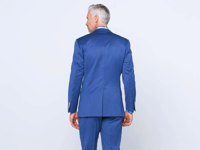Mixed Bright Indigo Twill Suit 2