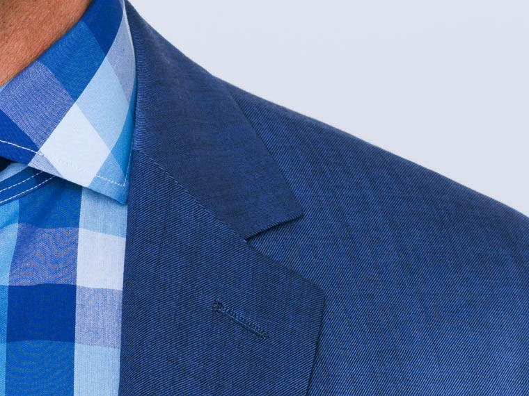 Mixed Bright Indigo Twill Suit 5