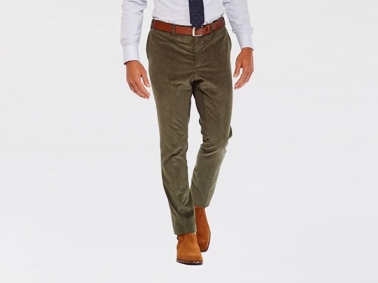 Olive Corduroy Pants