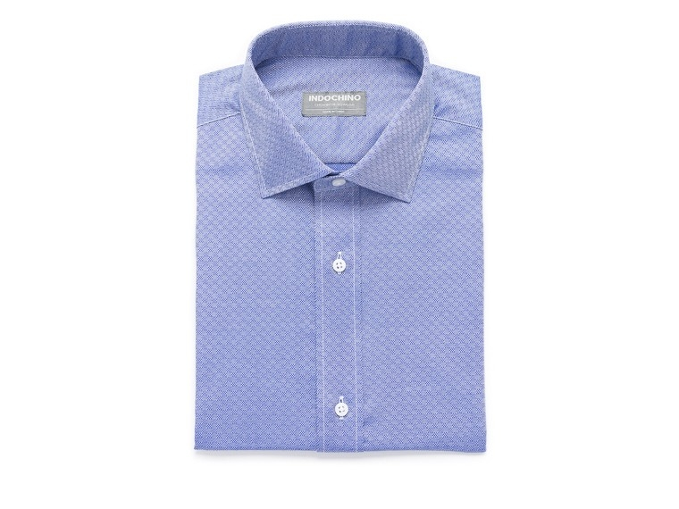 French Blue Tile Twill Shirt 1