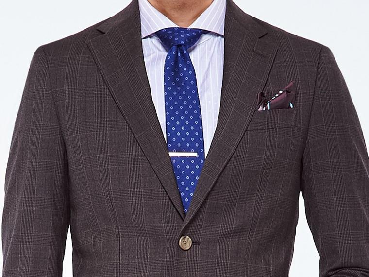 Warm Charcoal Prince of Wales Suit 1