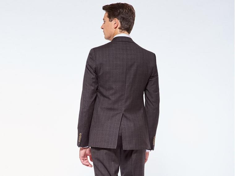 Warm Charcoal Prince of Wales Suit 2