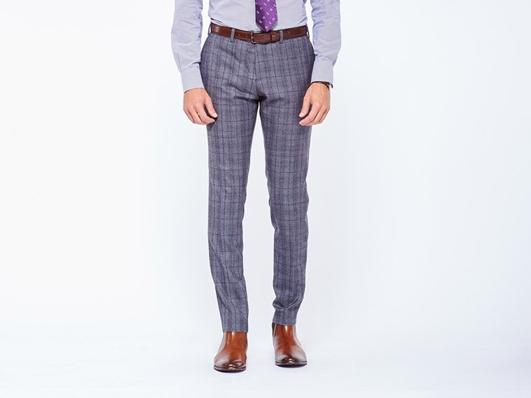 Rich Gray Prince of Wales Suit 3