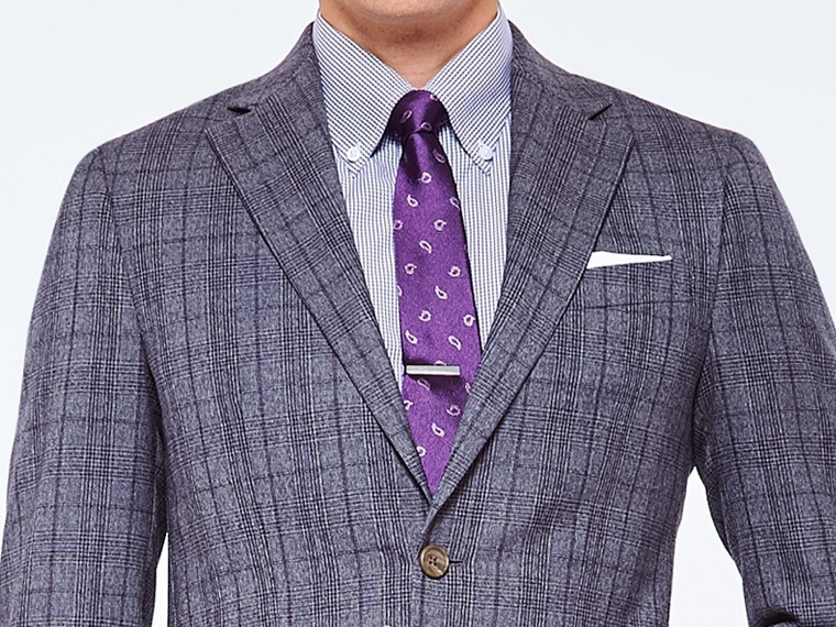 Rich Gray Prince of Wales Suit 1