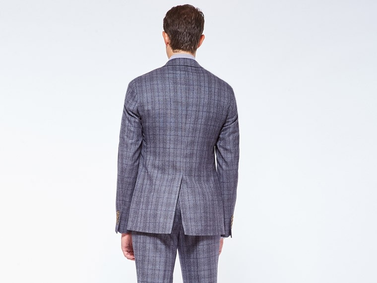 Rich Gray Prince of Wales Suit 2