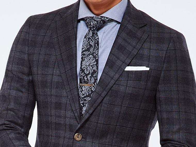Charcoal Shadow Plaid Suit 1