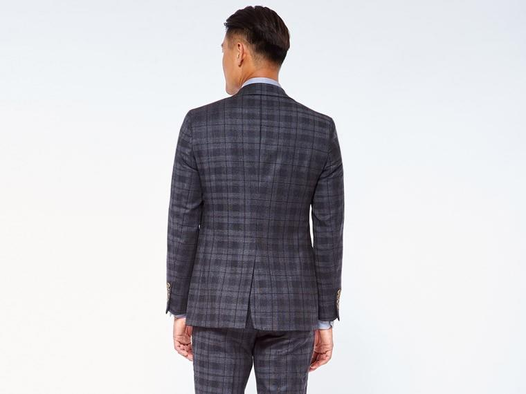 Charcoal Shadow Plaid Suit 2