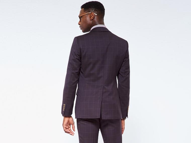 Dark Brown Glen Plaid Suit