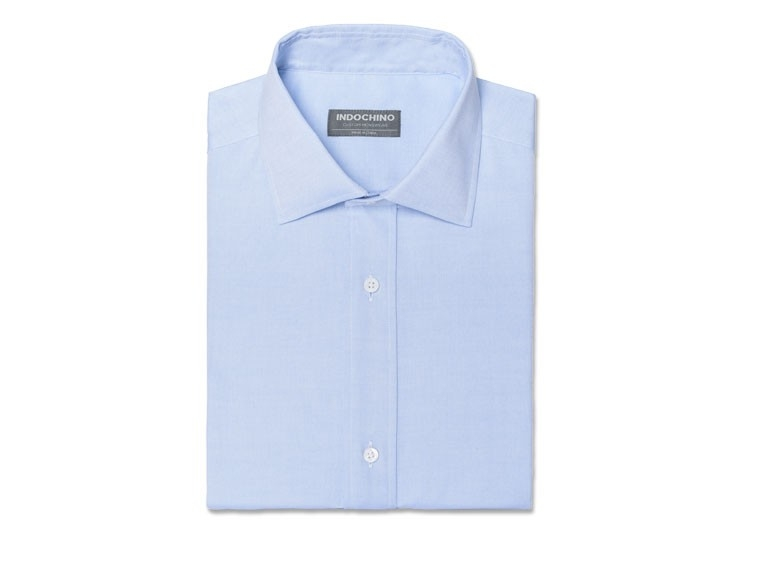 Soft Blue Pinpoint Oxford Shirt 1