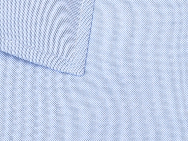 Soft Blue Pinpoint Oxford Shirt 2