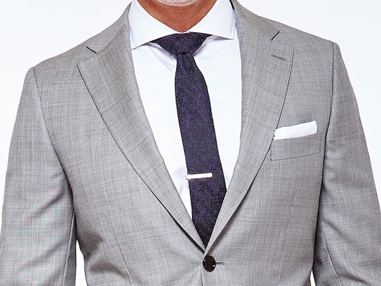 Classic Gray Sharkskin Suit 1