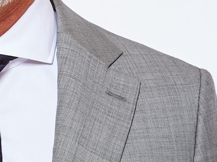 Classic Gray Sharkskin Suit 5