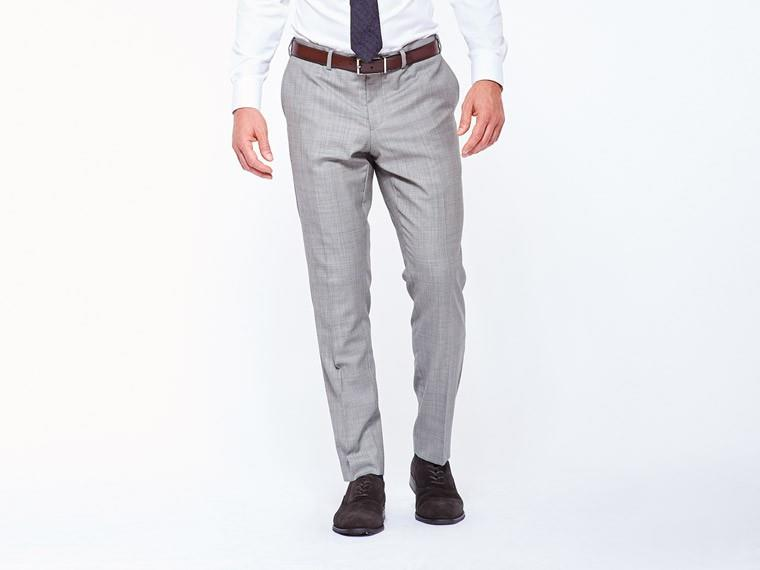 Classic Gray Sharkskin Suit 3