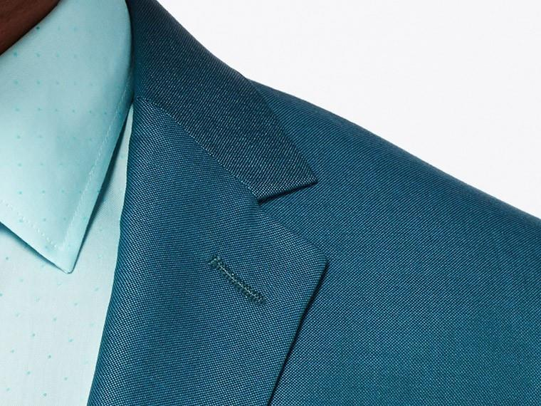 Bright Teal Wool Silk Suit 5