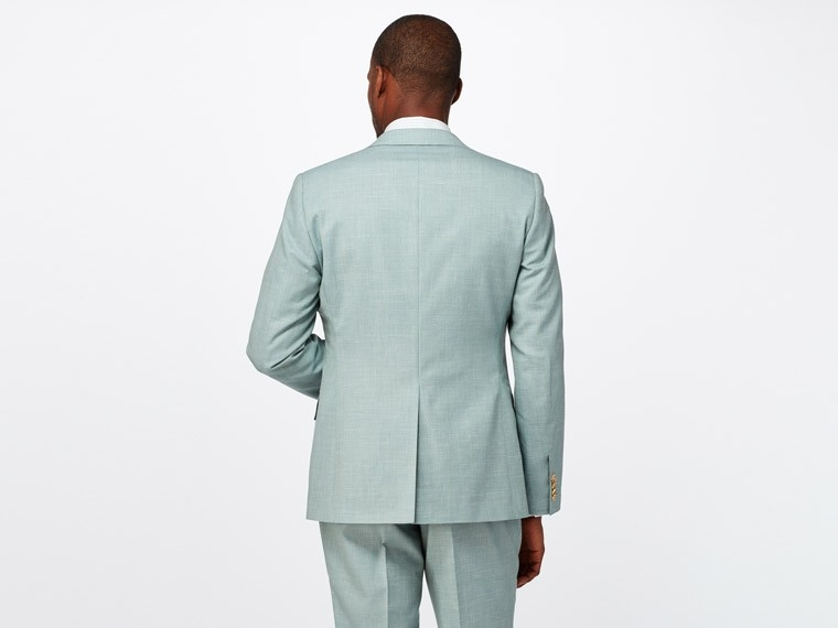 Sage Green Wool and Linen Suit 2