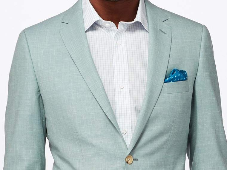 Sage Green Wool and Linen Suit 1