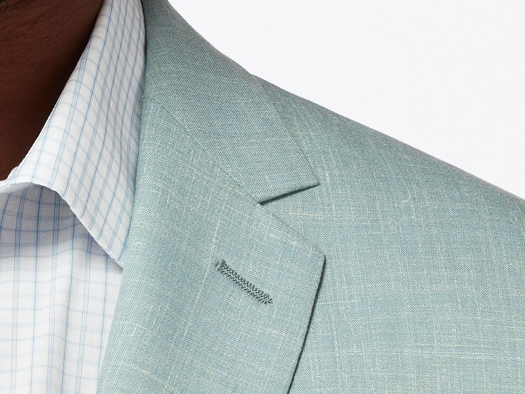 Sage Green Wool and Linen Suit 5