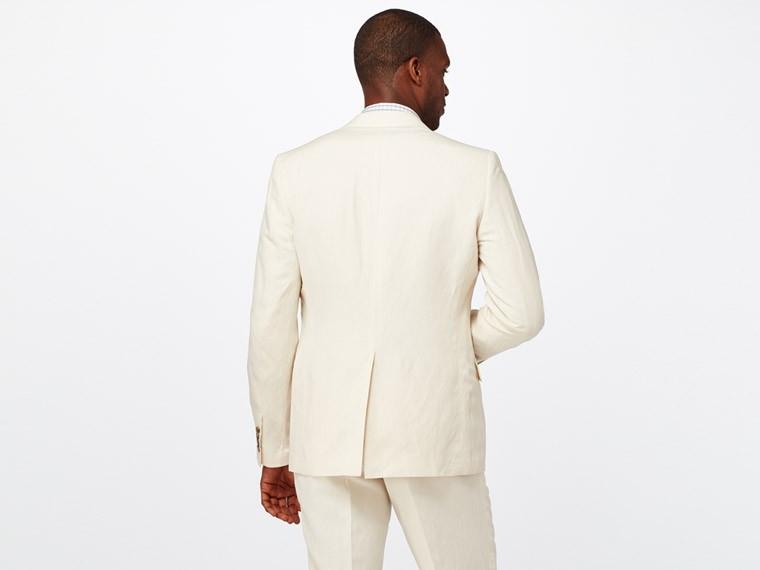 Ivory Silk Linen Suit