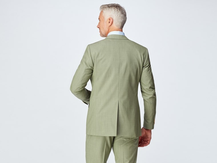 Sage Green Wool Stretch Suit 2