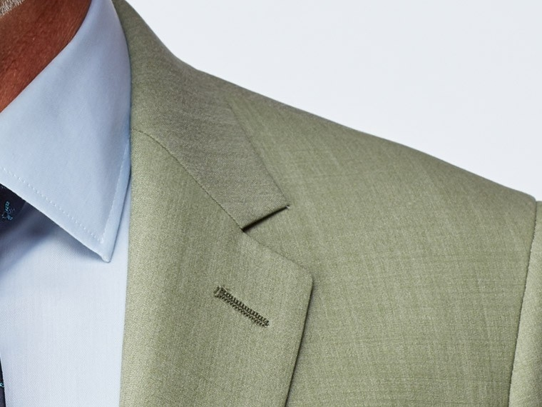 Sage Green Wool Stretch Suit 5