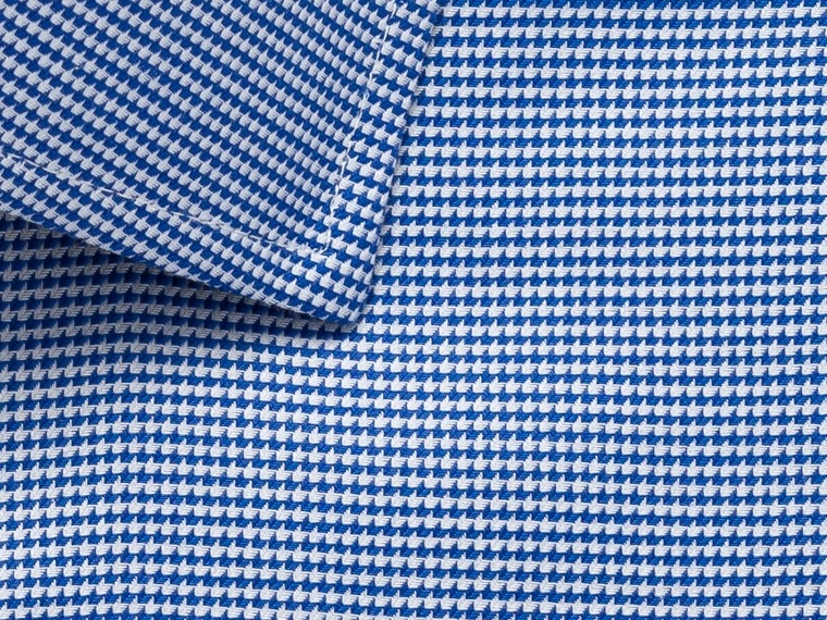 Royal Blue Micro Chevron Shirt