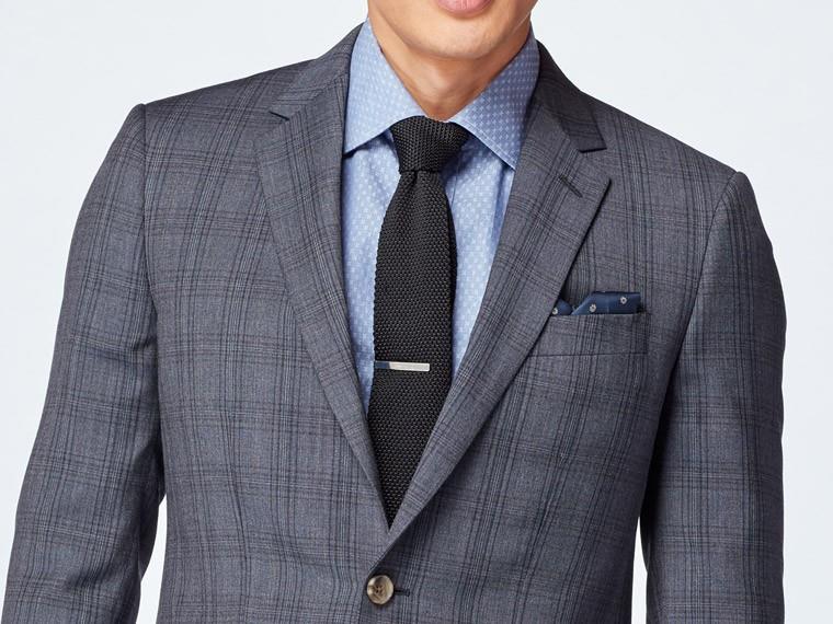 Dark Gray Plaid Suit