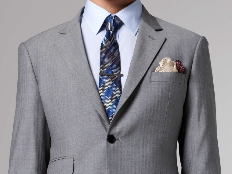 Essential Gray Herringbone Suit 1