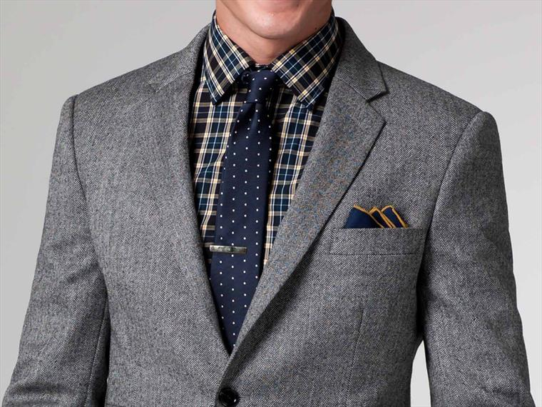 The Gasper Gray Herringbone Blazer 1